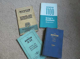 AUSTIN LOG BOOK & DIARY 1963 & A40/150 & AUSTIN 1100 INSTRUCTION BOOKS