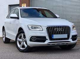 2014 Audi Q5 2.0 TDI 177 Quattro S-Line Steptronic, Diesel, Gorgeous in IBIS White, Full Milano Leather