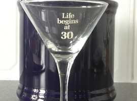 30th Birthday celebration drink glass for keep sake