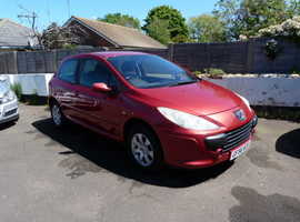 Peugeot 307, 2006 (56) Red Hatchback, Manual Diesel, 66,000 miles
