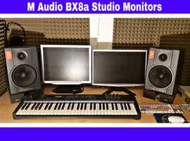 Pair of M AUDIO BX8a Audiophile Deluxe Studio Monitors. Excellent condition.