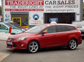 ,2011/61 Ford Focus 1.6 Turbo Eco-Boost Titanium Estate finished in Tango Red Metallic. 67,539 miles