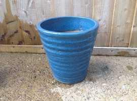 Heavy blue planter