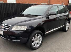 Volkswagen Touareg, 2007 (56) Black Estate, Automatic Diesel, 95,000 miles