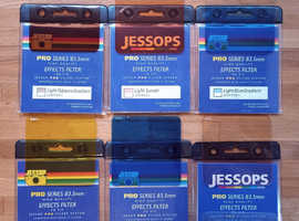 6 X Jessop Filters for Cokin P series filter system. Various colour and gradient filters