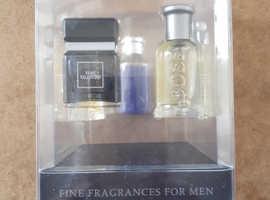 Designer fragrances for men gift set. Boss. Very Valentino. Givenchy. Ted Baker. Cerruti 1881.