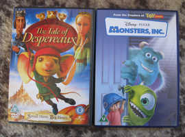 2 DVDS MONSTERS INC & THE TALE OF DESPERAUX BOTH U IN GOOD CONDITION