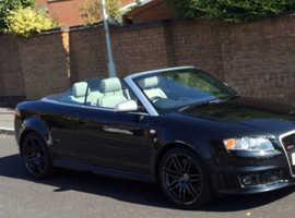 Audi Rs4, 2006 (06) black convertible, Manual Petrol, 50000 miles
