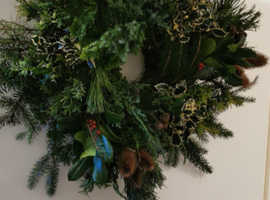 Real foliage christmas wreaths, for sale.