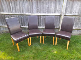 4 X DINNING ROOM CHAIRS
