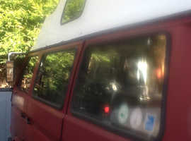 VW T24 red campervan  (full years mot)