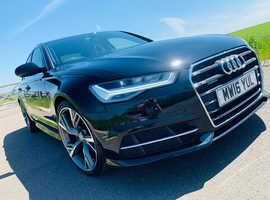 Audi A6, 2016 (16) Black Saloon, Semi auto Diesel, 45,286 miles