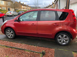 Nissan Note, 2008 (08) Red MPV, Manual Petrol, 96,000 miles