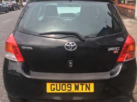 Toyota Yaris, 2009 (09) Black Hatchback, Manual Petrol, 79,000 miles