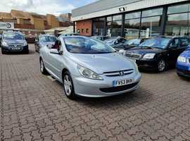 Peugeot 307, 2003 (53) Silver Coupe, Manual Petrol, 128,945 miles