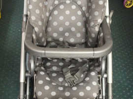MAMAS AND PAPAS ULTIMA MPX TRAVEL SYSTEM IN GREY POLKA