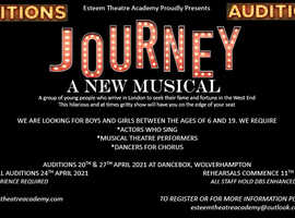 Auditions for a brand new musical theatre show
