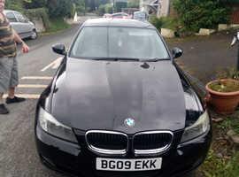 BMW 3 Series, 2009 (09) Black Saloon, Manual Petrol, 102,000 miles