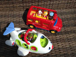 Fisher price bus and plane