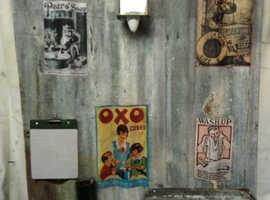 KITCHEN/WORKSHOP METAL NOTICE BOARD  STEAMPUNK