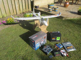 RC Plane and all of the equipment required to get started in the hobby of flying model planes