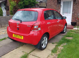 Toyota Yaris, 2010 (10) Red Hatchback, Manual Petrol, 91,646 miles