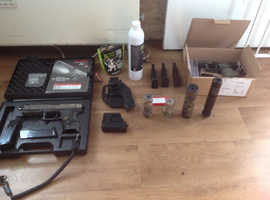 Tokyo Marui mk23 airsoft pistol. Upgraded. loads Of extras!