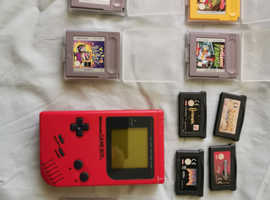 Game boy Red. With snows bros game.