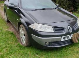 Renault Megane, 2007 (07) Grey Convertible, Manual Diesel, 106,000 miles