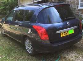 Peugeot 308, 2009 (59) Blue Estate, Manual Diesel, 192,000 miles