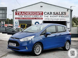 2013/62 Ford B-Max 1.6 TDCi Titanium finished in Royal Blue.  35703 miles
