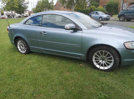 Volvo C70, 2008 (58) Blue Convertible, Manual Diesel, 117,000 miles