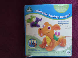 INFLATABLE SQUIRTY DRAGON - GREAT SUMMER GARDEN FUN