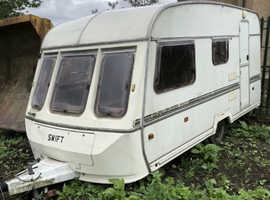 Swift touring caravan