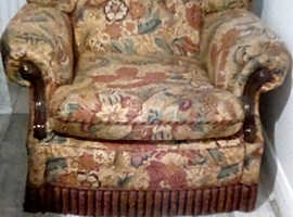 Perfect condition, well upholstered lounge chair.