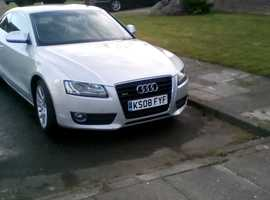 Audi A5, 2008 (08) Silver Coupe, Manual Diesel, 125,000 miles