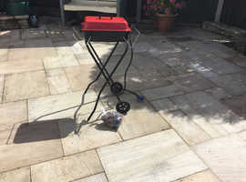 BBQ with wheeled stand