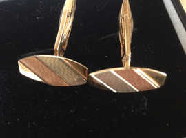 Gold cufflinks from Italy