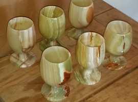Vintage Marble wine goblet's