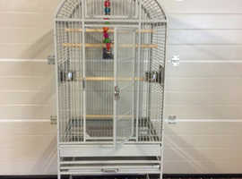 Parrot cage large size in stone colour