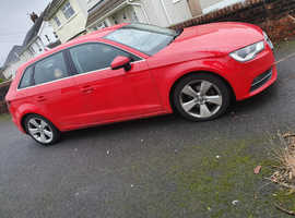 Audi A3, 2014 (64) Red Hatchback, Manual Diesel, 95,000 miles