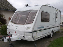 ABBEY, FREESTYLE SE 470, 2003 2 Berth Caravan with Full Awning