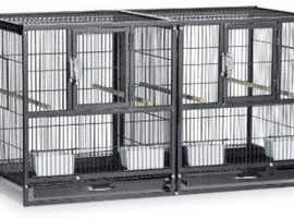 Hampton Deluxe Divided Flight Breeding Cage and Stand
