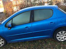 Peugeot 207, 2008 (08) Blue Hatchback, Manual Petrol, 99,000 miles