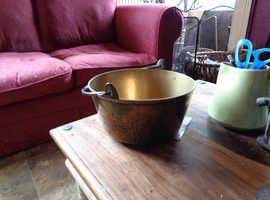 Antique Solid Brass Jam Pan