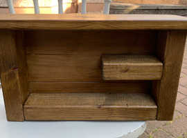 Solid reclaimed timber display shelf - New
