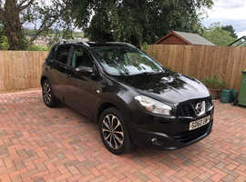 Nissan Qashqai, 2010 (60) Black Hatchback, Manual Diesel, 92,298 miles