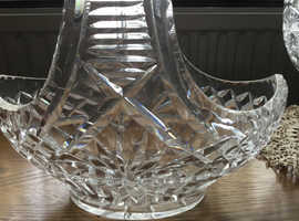 Vintage Lead crystal basket