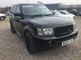Land Rover Range Rover Sport, 2007 (07) Black Estate, Automatic Diesel, 117,000 miles