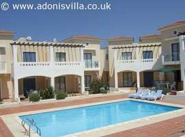 Holiday home in Paphos Cyprus to rent close to tourist area with pool available all year